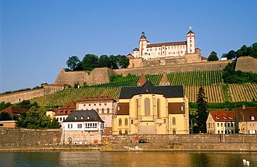 Germany, Bavaria, Wurzburg, Marienberg Fortress,