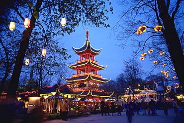 Tivoli Gardens, Copenhagen, Denmark