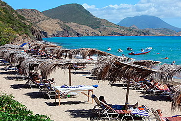 Panoramic view of the beach on the island of St Kitts