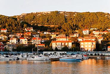 Harbor in Rab Town, Croatia