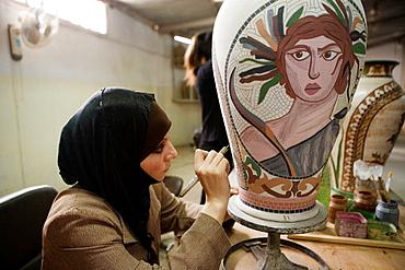 Queen Noor foundation for handicrafts (National Handicrafts Development Project), Mount Nebo (alt.804m), Kingdom of Jordan
