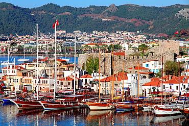 Marmaris castle and port, Mediterranean sea , Turkey