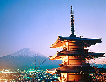 Mount Fuji, Fujiyoshida city, Japan