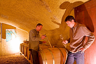 The wine cellar, Luxury small Hotel and restaurant 'La Bastide de Marie' owner Sibuet Family from Megeve, Menerbes , Luberon, Vaucluse (84), Provence, France