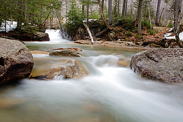 Franconia Notch State Park, The Baby Flume, which is located just below The Basin viewing area along the Pemigewasset River in Lincoln, New Hampshire USA