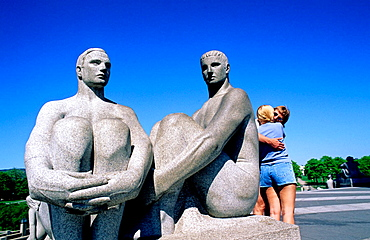 The VIgeland park and its statues, City of Oslo, Norway (Scandinavia)