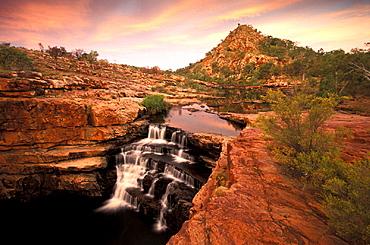 Bell River Gorge, King Leopold Range, national park, Kimberleys, Western Australia, river, twilight, rock, landscap. Bell River Gorge, King Leopold Range, national park, Kimberleys, Western Australia, river, twilight, rock, landscap
