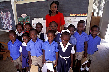 African origin, city, class, education, elementary, formation, no model release, Parlatuvier Anglican School, Parlat. African origin, city, class, education, elementary, formation, no model release, Parlatuvier Anglican School, Parlat