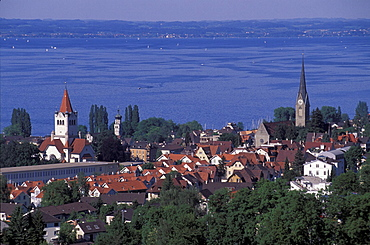 canton St. Gallen, city, lake, Lake of Constance, overview, Rorschach, Switzerland, Europe, town. canton St. Gallen, city, lake, Lake of Constance, overview, Rorschach, Switzerland, Europe, town