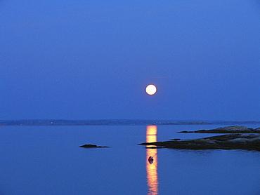 At night, Buoy, Buoys, Coast, Color, Colour, Full moon, Moon, Moonlight, Night, Rock, scenery, landscape, Sea, Swede. At night, Buoy, Buoys, Coast, Color, Colour, Full moon, Moon, Moonlight, Night, Rock, scenery, landscape, Sea, Swede