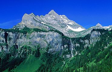 Alpine, Blue, Blue sky, Braunwald, Zillybach, Geologic cliff fold, Geology, Glarus alps, Glarus, Local floor, Mounta. Alpine, Blue, Blue sky, Braunwald, Zillybach, Geologic cliff fold, Geology, Glarus alps, Glarus, Local floor, Mounta