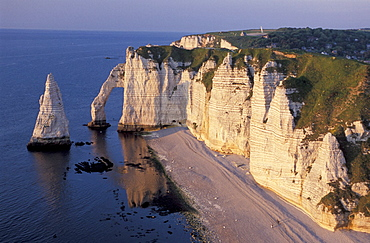 Sea, Cliffs, Arch, Etretat, Normandy, France, Europe, landscape, erosion. Sea, Cliffs, Arch, Etretat, Normandy, France, Europe, landscape, erosion