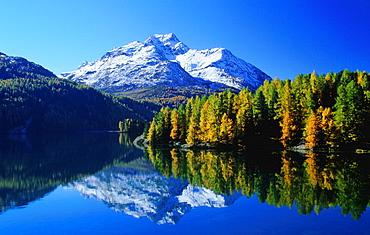 Silser lake, Silsersee, lake Sils, Sils, lake, water, reflection, quiet, calm, silence, rest, Bundner Alps, alpine, mo. Silser lake, Silsersee, lake Sils, Sils, lake, water, reflection, quiet, calm, silence, rest, Bundner Alps, alpine, mo