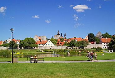 Almedalen Park, Almedalen, attractive, public, park, Visby, Gotland, Sweden, Europe, Scandinavia, EU, European, travel. Almedalen Park, Almedalen, attractive, public, park, Visby, Gotland, Sweden, Europe, Scandinavia, EU, European, travel