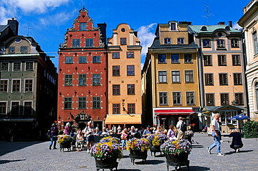 Sweden, Europe, Stockholm, Stortorget, Gamla Stan, old town, architecture, street cafe, City, Europe, travel, Scandina. Sweden, Europe, Stockholm, Stortorget, Gamla Stan, old town, architecture, street cafe, City, Europe, travel, Scandina