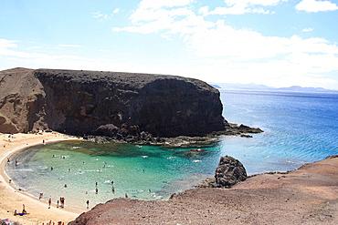 Lanzarote island, Spain, Europe, Canary islands, beach, seashore, El Papagayo, travel, volcanism, volcanic Landscape, . Lanzarote island, Spain, Europe, Canary islands, beach, seashore, El Papagayo, travel, volcanism, volcanic Landscape,