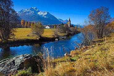 Sils, Switzerland, Canton of Graubunden, Grisons, . Sils, Switzerland, Canton of Graubunden, Grisons,