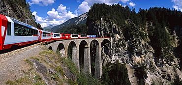 Bridge, railroad, railway, Filisur, Glacier_Expres. Bridge, railroad, railway, Filisur, Glacier_Expres