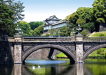 Japan, Tokyo City, The Imperial Palace, Nijubashi, . Japan, Tokyo City, The Imperial Palace, Nijubashi,