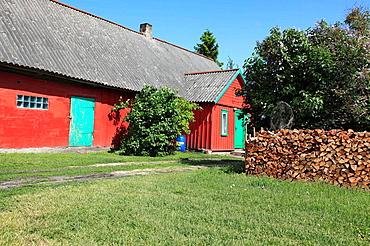 old farmhouse near Paernu, Estonia, Baltic Nation, Eastern Europe
