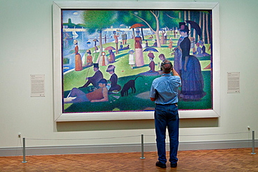 A Sunday on La Grande Jatte by Georges Seurat at the Art Institute in Chicago, IL, USA