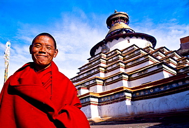 The Kumbum Stupa in Gyantse Tibet's largest Pelkor Chode Monastery Gyantse Tibet China.