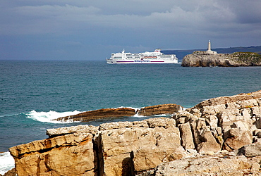 Ferry from Santander to Plymouth, Bay of Santander, Cantabria, Spain