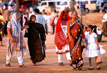 Sri Lanka, Colombo, Galle Face Green, people, leisure,