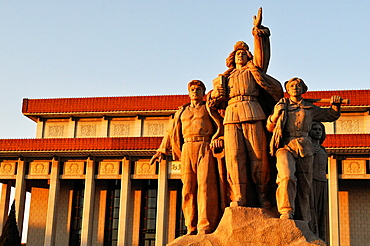 Beijing (China): the Liberation of the People Statue, in front of the Mao Memorial Hall, in Tiananmen Square