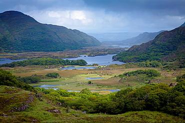 Landscape  The Lakes of Killarney from Ladies view  Killarney National Park  County Kerry, Ireland