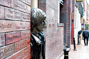 Cavern Wall of Fame and John Lennon Statue Liverpool England