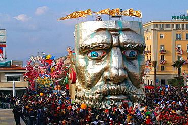 Parade during carnival, Viareggio, Tuscany, Italy