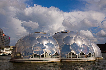 Drijvend Paviljoen the floating science museum pavilion Kop van Zuid district Rotterdam the Netherlands Europe