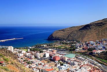Canary Islands, La Gomera, San Sebastian de la Gomera, aerial view