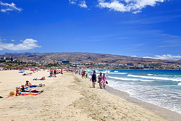 Canary Islands, Gran Canaria, Playa del Ingles Beach