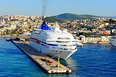 Cruise Ships Kusadasi Turkey Harbor Aegean Sea Mediterranean