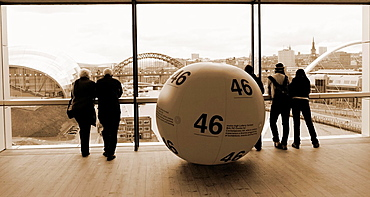 View over river Tyne and Newcastle from Baltic Centre for Contemporary Art Gateshead, England, United Kingdom