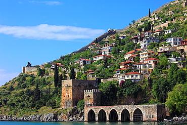 Turkey, Alanya, Tersane, Seljuk shipyard, fortress,