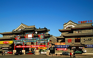 China, Tianjin, Old Town, traditional style architecture,
