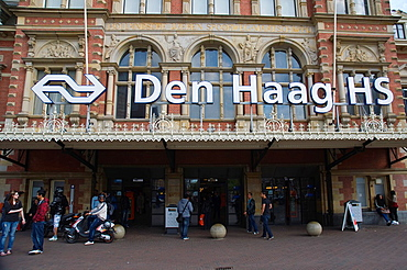 Hollands Spoor HS railway station exterior Den Haag the Hague province of South Holland the Netherlands Europe