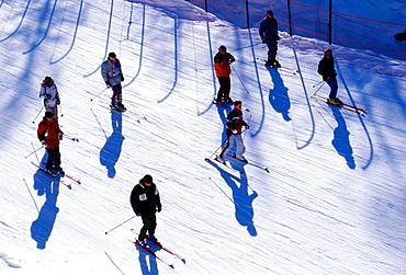 Ski, Madesimo, Lombardia, Italy.