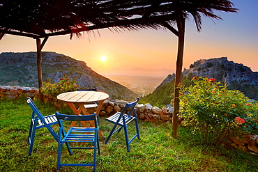 View from Old Pili taverna, Kos Island, Dodecanese, Greece