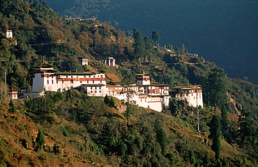 Bhutan, Trongsa, dzong, monastery, fortress,