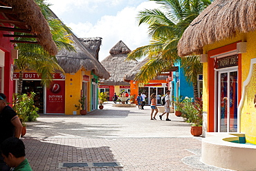 Cruise passenger tourists shopping in Cozumel, Mexico in the Caribbean Sea