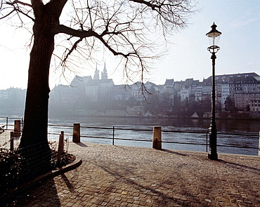 Rhine River promenade, Basel, Switzerland