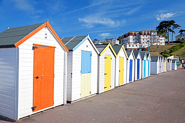England Devon Goodrington Sands North Row of beach huts