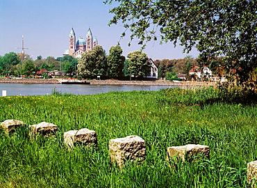 Germany, Speyer, Rhineland-Palatinate, cathedral, Rhine promenade