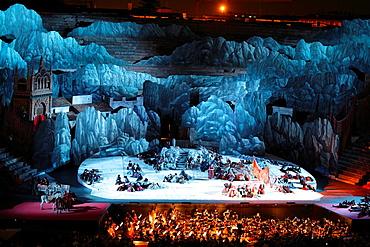 Carmen by Bizet, performance at Arena, Verona, Italy