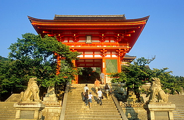 Main entrance of Kiyomizudera temple, UNESCO World Heritage Site, Kyoto, Japan