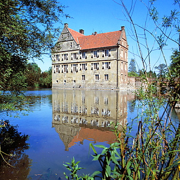 Hulshoff Castle, Havixbeck, Munsterland, North Rhine-Westphalia, Germany